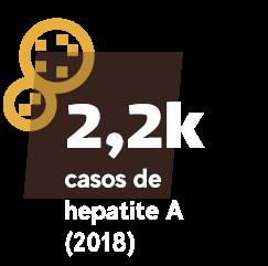 2,2 mil casos de hepatite A (2018)